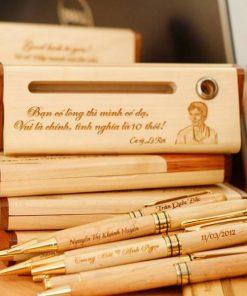 Khắc laser bút gỗ theo yêu cầu tại Laser bình thuận