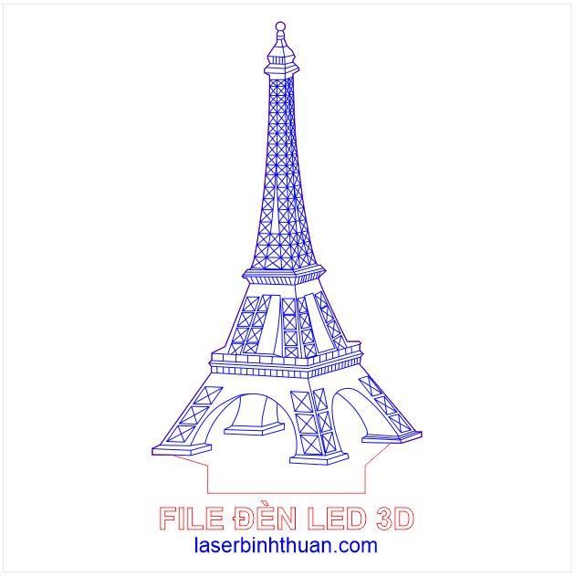 Led 3d - mô hình Tháp Eiffel