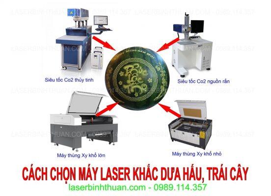 Cách chon máy khắc laser dưa hấu tết hiệu quả nhất