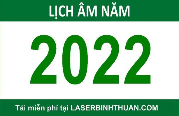 Tải file lịch số âm dương 2022 miễn phí
